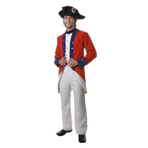 Dress Up America 342-L Adult Colonial Soldier Costume - Size Large