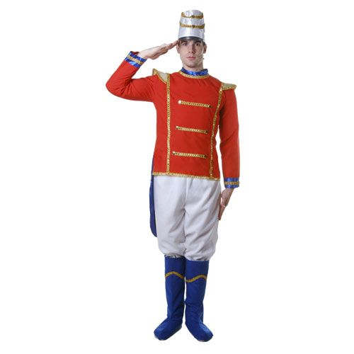 Dress Up America 344-S Adult Toy Soldier Costume  - Size Small