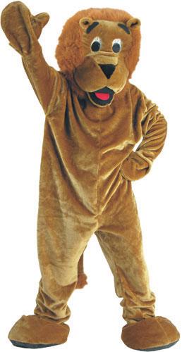 Dress Up America 298-Adult Roaring Lion Mascot Costume Set - One Size Fits Most