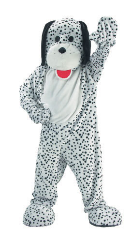 Dress Up America 299-Adult Dalmatian Mascot Costume Set - One Size Fits Most