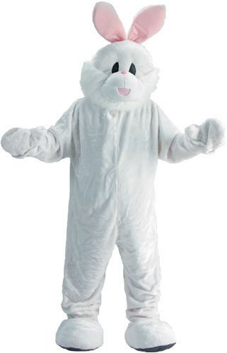 Dress Up America 300-Adult Cozy Bunny Mascot Costume Set - One Size Fits Most