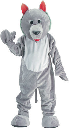 Dress Up America 301-XL Hungry Wolf Mascot Costume Set - X Large