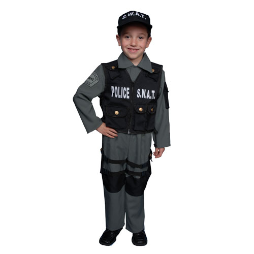Dress Up America 327-M S.W.A.T Police Officer Costume - Size Medium 8-10