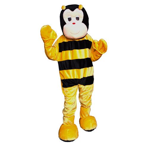 Dress Up America 356-Adult Bumble Bee Mascot Costume - One Size Fits Most