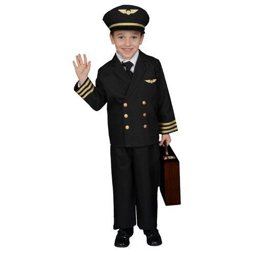 Dress Up America 365-T Pilot Boy Jacket Costume - Size Toddler T4