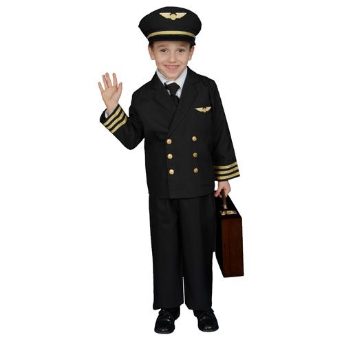 Dress Up America 365-L Pilot Boy Jacket Costume - Size Large 12-14