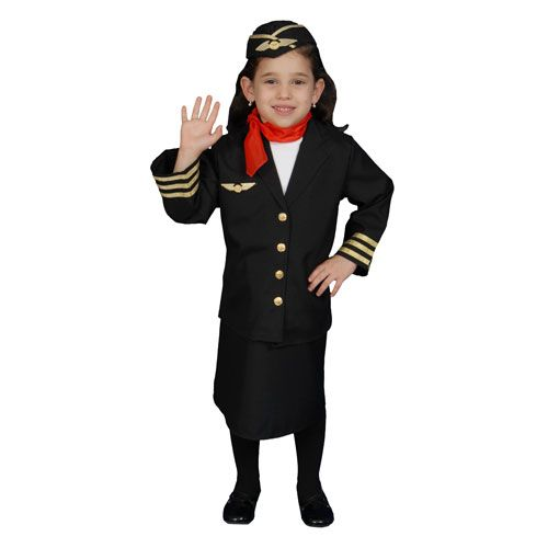 Dress Up America 366-M Flight Attendant Set Costume - Size Medium 8-10