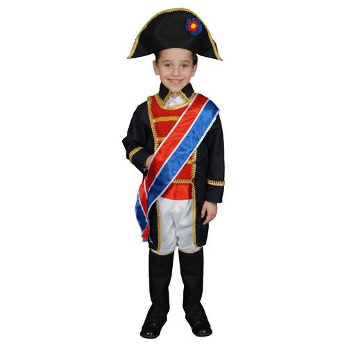 Dress Up America 378-M Napoleon Costume Set - Size Medium 8-10