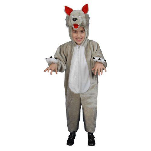 Dress Up America 379-2 Kids Plush Wolf Costume - Size Toddler T2