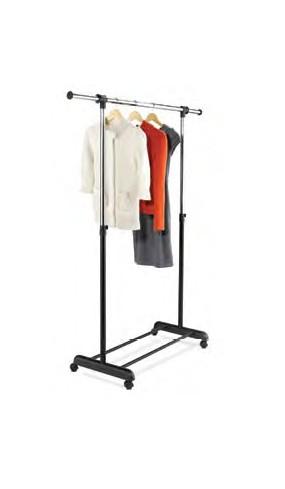 Honey-Can-Do GAR-01124 Expandable Garment Rack - Chrome and  Black