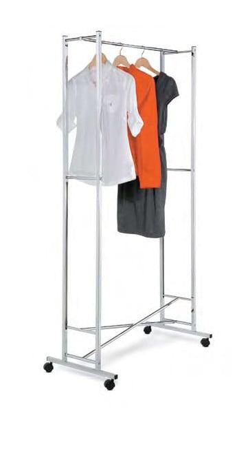 Honey-Can-Do GAR-01268 Square Tube Garment Rack - Chrome Folding