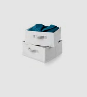 Honey-Can-Do SFT-01241 Drawers For Hanging Organizer - Polyester - 2 Pack - White