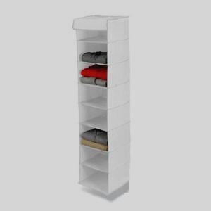 Honey-Can-Do SFT-01246 8 Shelf Hanging Organizer - Polyester - Black -Pack of 2