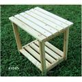 Shine Co 4104N 19.75 x 14 x 19.75 Inch Rectangular Side Table - Natural