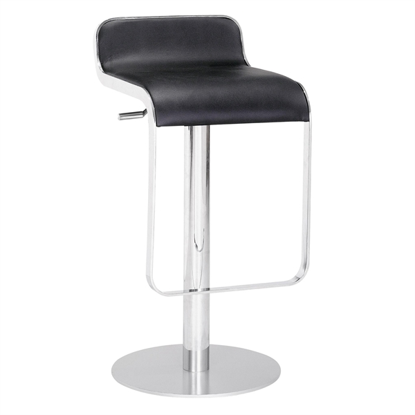 Zuo 301111 Contemporary Equino Bar Stool - Black