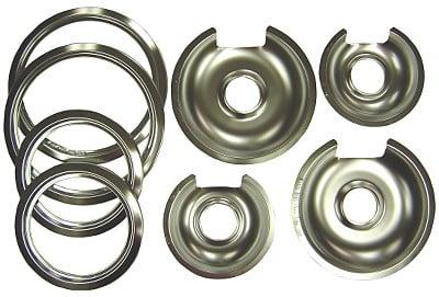 Range Kleen 1056RGE8 GE-Hotpoint Chrome Pan - Trim Ring Set 8 Pk