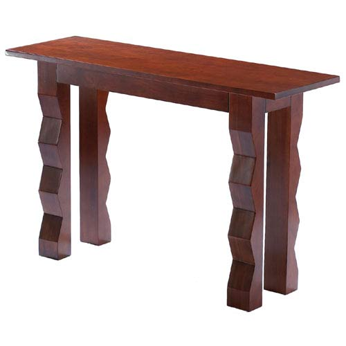 Access Designer Decor 3C-1023-T Tikal Zig-Zag Transitional Ash Tall Console - Deep Mahogany