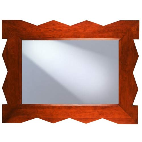 Access Designer Decor 3M-1020-ZZ Tikal Zig-Zag Transitional Ash Mirror - Espresso