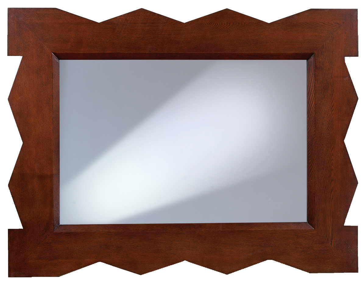 Access Designer Decor 3M-1023-ZZ Tikal Zig-Zag Transitional Ash Mirror - Deep Mahogany