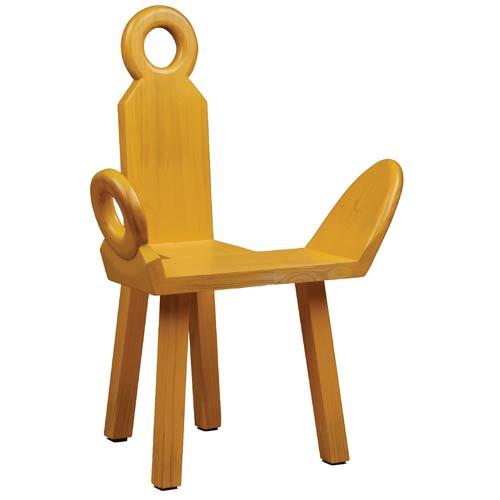 Access Designer Decor 14-1052-R1 Sausalito JR Bench - Accent Chair - Rubbed Yellow