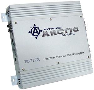 PYRAMID PB717X MOSFET Arctic Series Amplifier 1000-Watt; 2-Channel