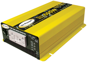 GoPower GPSW-600-12 Pure Sine Wave DC-to-AC Inverter - 600-Watt