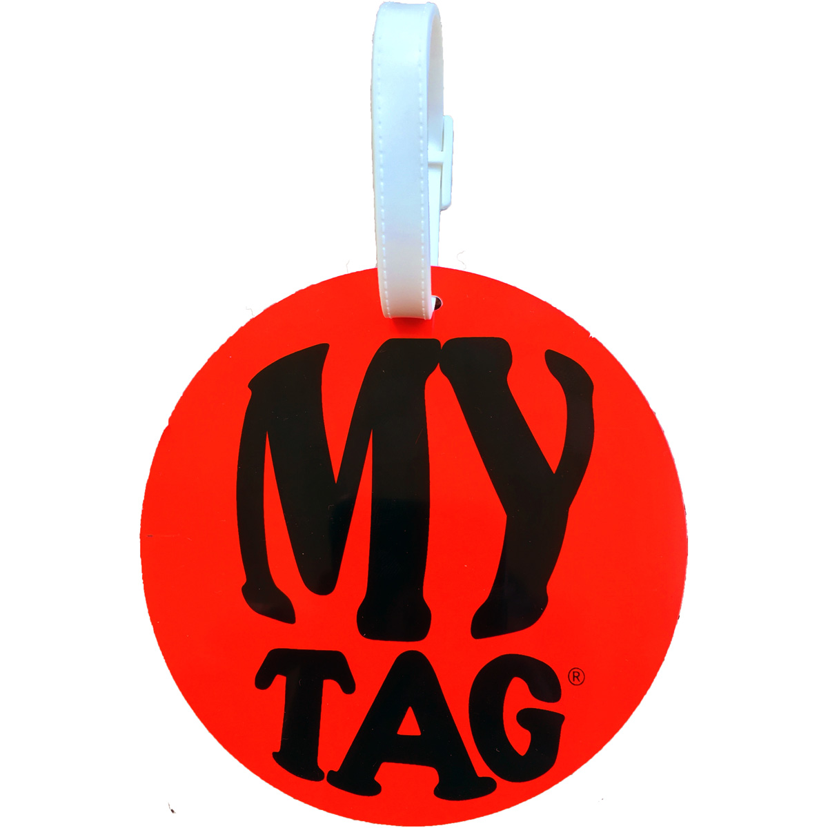 A. Saks AE-00-2 Monster ID Tag - Red and White
