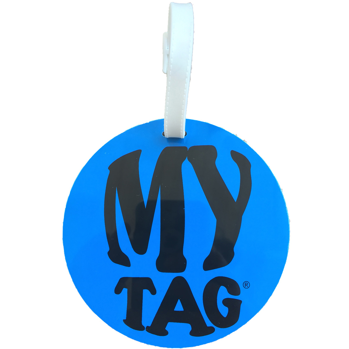 A. Saks AE-00-4 Monster ID Tag - Blue and White