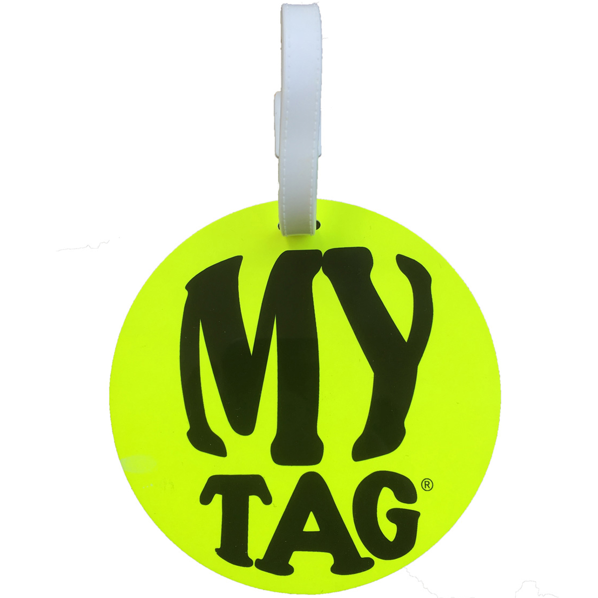 A. Saks AE-00-5 Monster ID Tag - Yellow and White