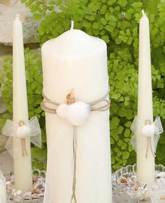 Ivy Lane Design 110PI Seashore Pillar Candle - Ivory Only
