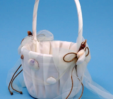Ivy Lane Design 110VI Seashore Flower Girl Basket - Ivory Only