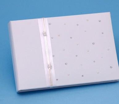 Ivy Lane Design A01080GB/WHT Celebrity Guest Book - White