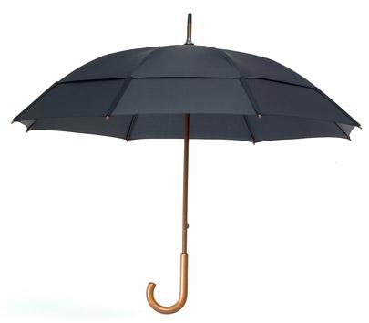 Gustbuster 85162 62 Inch Doorman J Handle Umbrella - Black