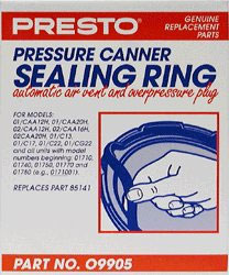Presto 09905 Pressure Canner Sealing Ring  Air Vent and Plug