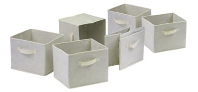 Winsome 82611 Capri Set of 6 Foldable Fabric Baskets - Beige