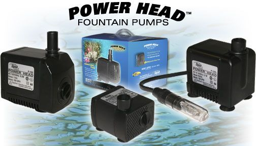 Alpine Corp P280 280 GPH Power Head Pump with 16 Ft Cord