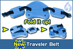Aqua Jogger AP142 Traveler belt folds up Blue AquaJogger