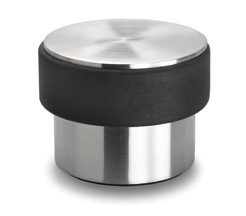 Blomus 68306 stainless steel door stop for heavy doors with anti-scratch base