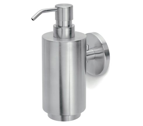 Blomus 68416 stainless steel wall-mounted soap dispenser