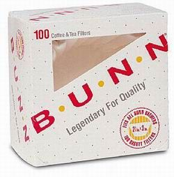 "DDI 933134 Bunn-O-Matic Corporation Coffee Filters  2-3/4""x3""  100/PK  White Case of 14"