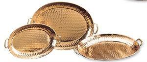 Old Dutch International Set 3 Oval Decor Copper Trays 1Each 251 252 253 - 250
