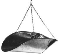 Penn Scale 820 V  Vegetable Scoop with Chain - Galvanized Steel 16 x 11.5 x 5