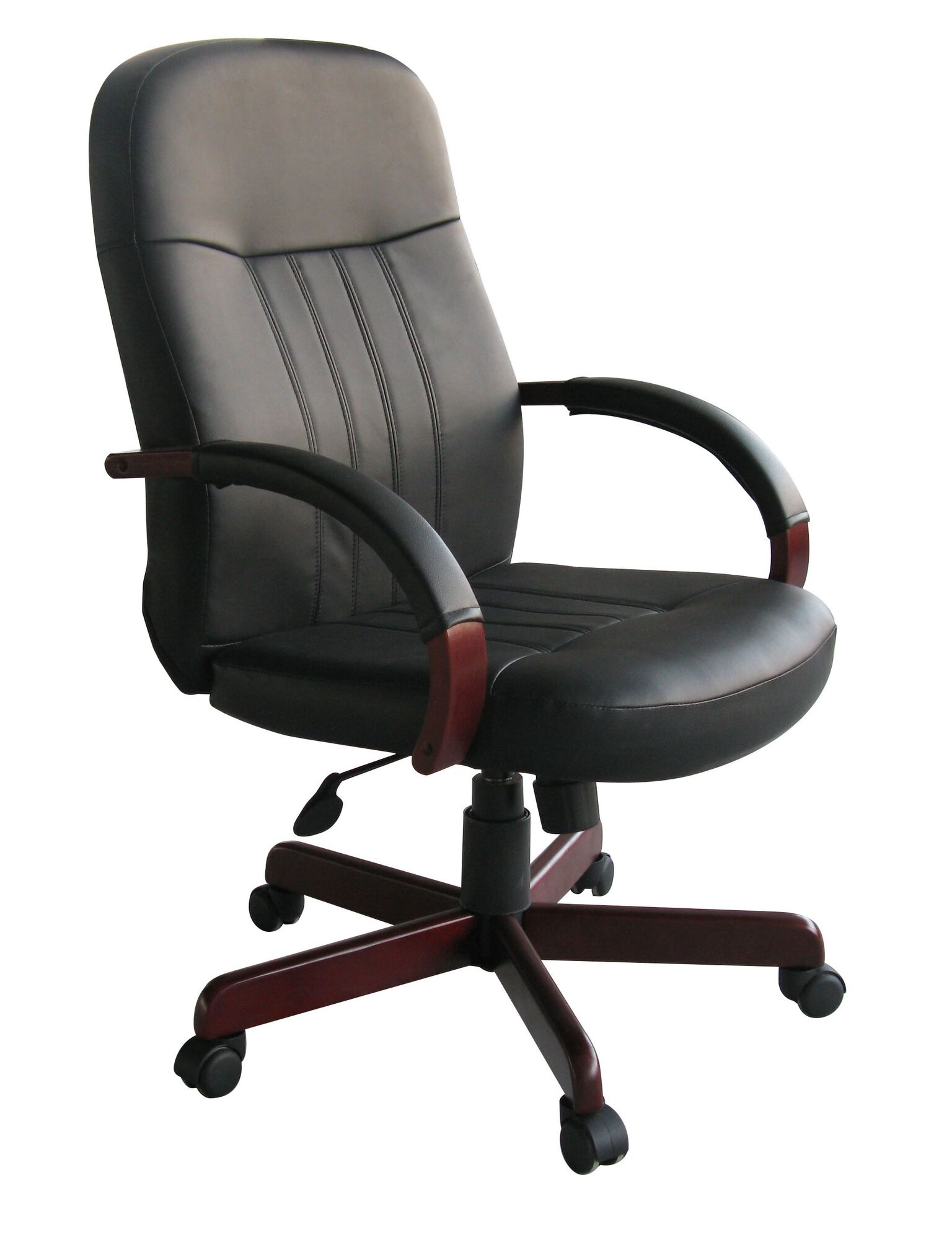 Boss High Back Leather Executive Chair - B8376 - Mahogany