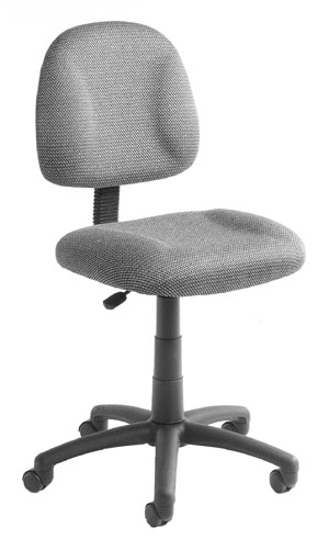 "Boss B315-BK 17.5""W Black Deluxe Posture Chair"