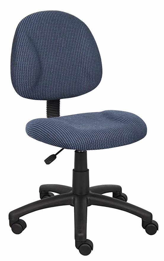 """Boss B315-BE 25""""D Blue Deluxe Posture Chair"""