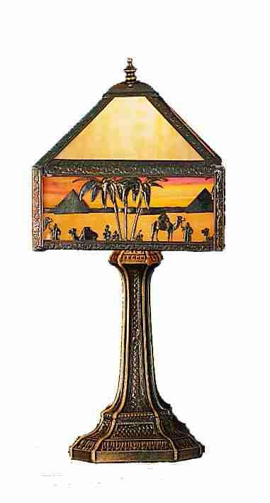 Meyda Tiffany 28344 19.5 Inch H Camel Mission Accent Lamp