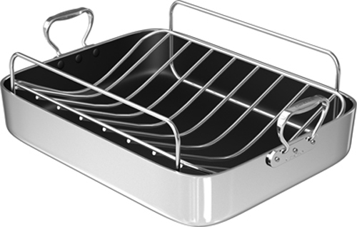 CHEFS DESIGN 1218 18-Inch French Roaster with Roasting Rack