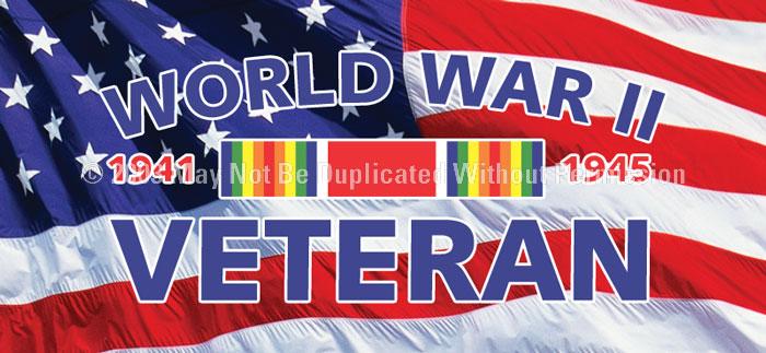 ClearVue Graphics Window Graphic - 30x65 World War II Veteran MIL-052-30-65