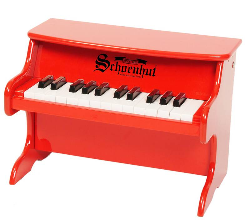 Schoenhut Toy Piano 2522R 25 key Red My First piano II