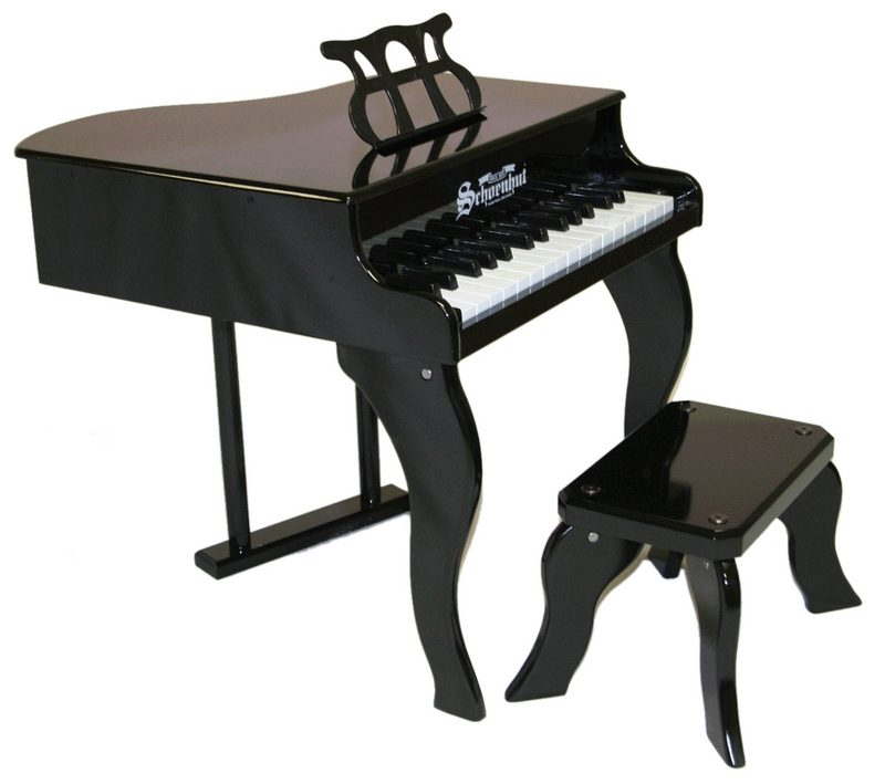 Schoenhut Toy Piano 3005B 30 key Black Fancy Baby Grand with Bench